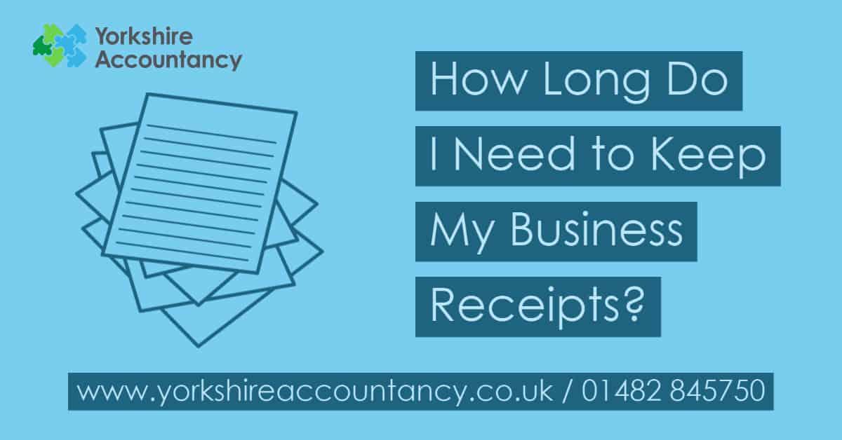 How Long Do I Need to Keep My Business Receipts?